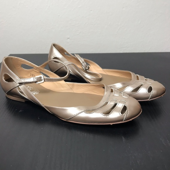 Tod's Shoes - Tod's Flats Champagne Color